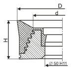 Поршень резино-металлический одинарного действия ТУ 26-02-1059-87
